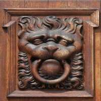 手工雕刻装饰元素门