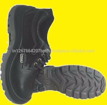 工业安全鞋皮革钢趾帽工作靴中底化学安全鞋