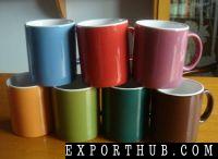 彩色釉面杯粗陶杯