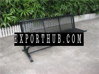 粉末涂层室外长凳金属公园长椅钢花园长凳