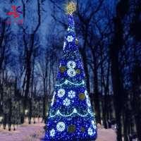 户外定制LED RGB照明计划圣诞树