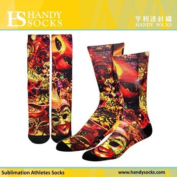 Athletic Running Socks Sublimation Printing Designed Socks
