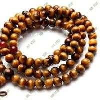8毫米圆珠tigereye石项链佛珠项链和fa