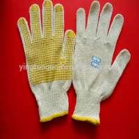 不同的颜色点缀手套点缀棉手套和棉花pvc Dottedglove
