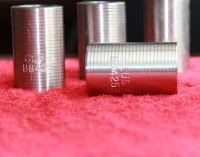 55毫米长度328毫米外径罗纹剥离和轧制平行螺纹钢筋耦合器